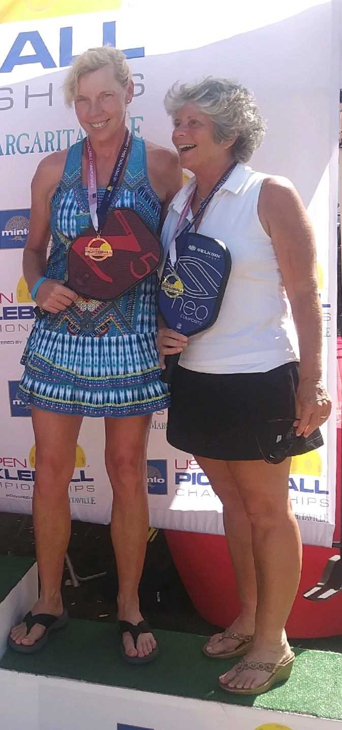 Franciska Blankenfeld and Theresa Demaio won the silver medal in the 3.0 Women's Doubles age 60+ of the US Open Pickleball Championships.