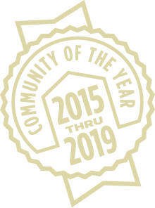 Community of the Year 2015-2019 Badge