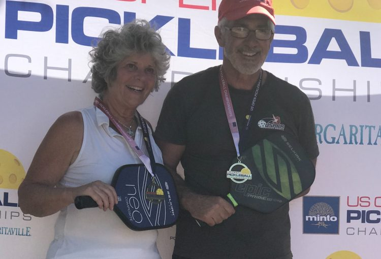 Steve and Theresa Demaio won the gold medal in the 3.0 Mixed Doubles age 65+ of the US Open Pickleball Championships.