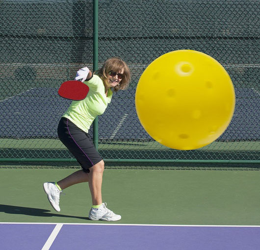 Pickleball Action - Del Webb Naples