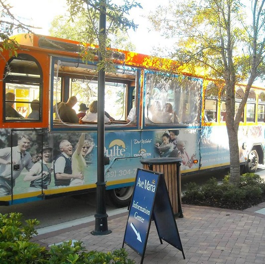 Trolley Tours tour bus Ave Maria Florida
