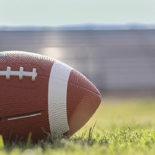 Football on grass, Ave Maria, Florida