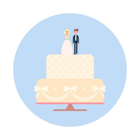 Wedding cake with figures; Newlywed Game, Maple Ridge, Ave Maria Florida