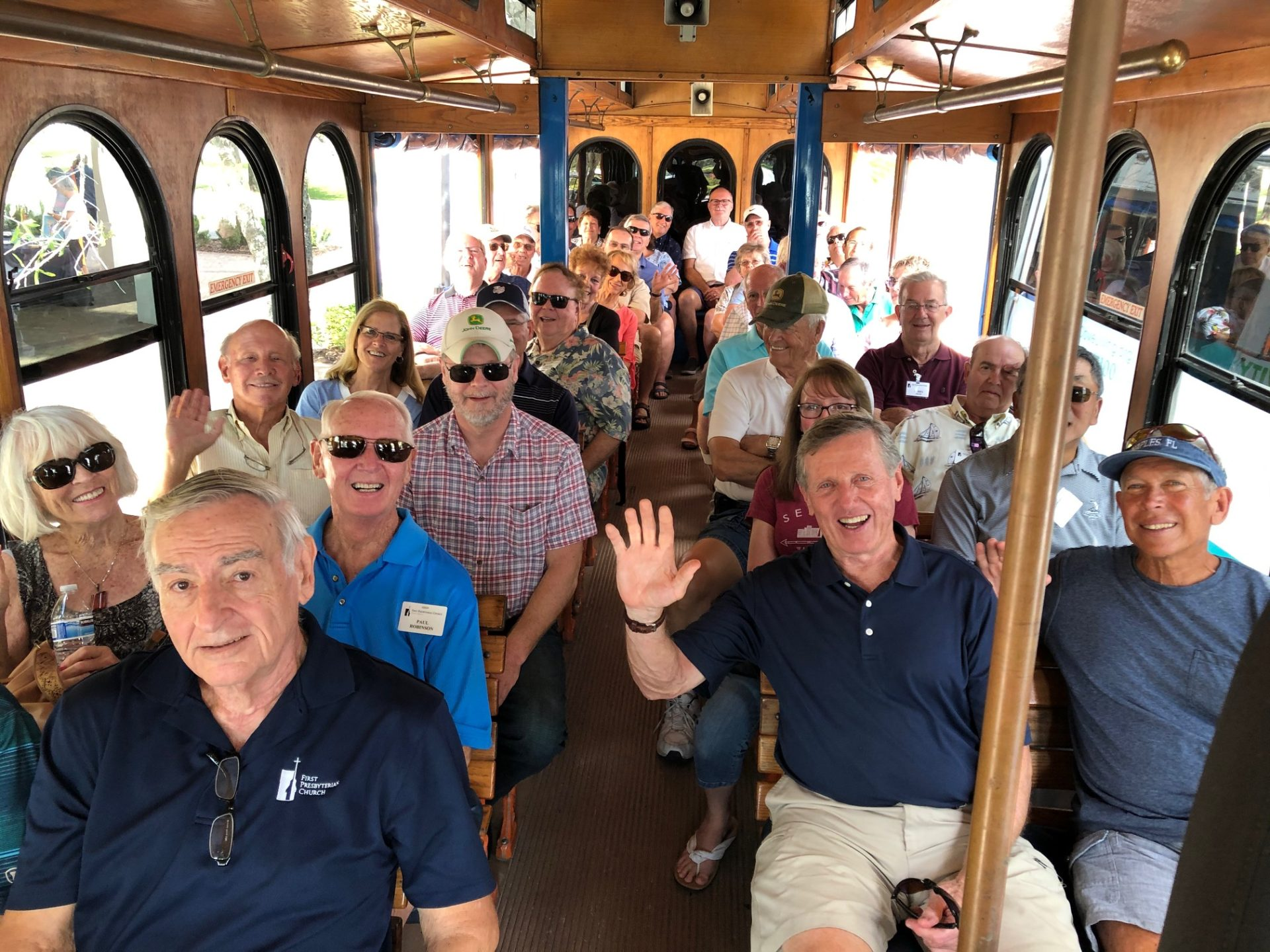 Trolley Tour group