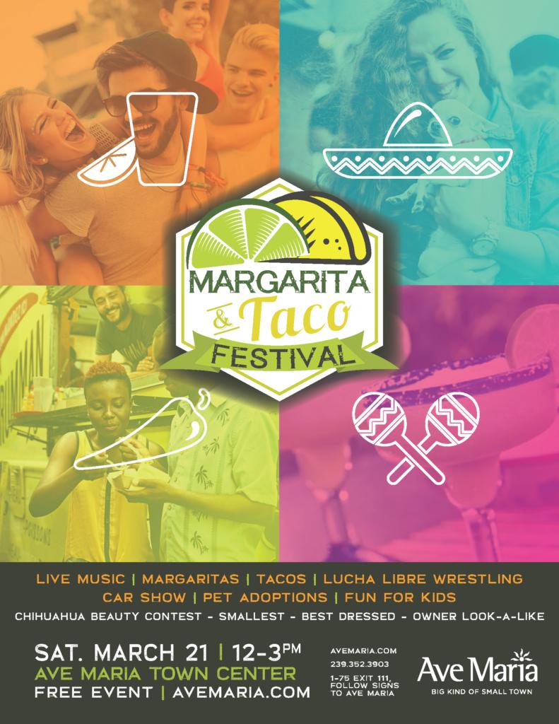 Margarita Taco Festival flyer 2020