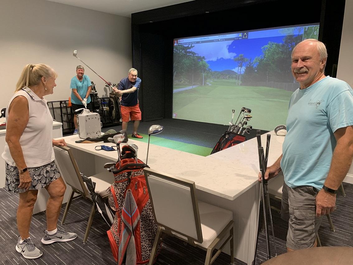 Golf simulator photo - simulator in use