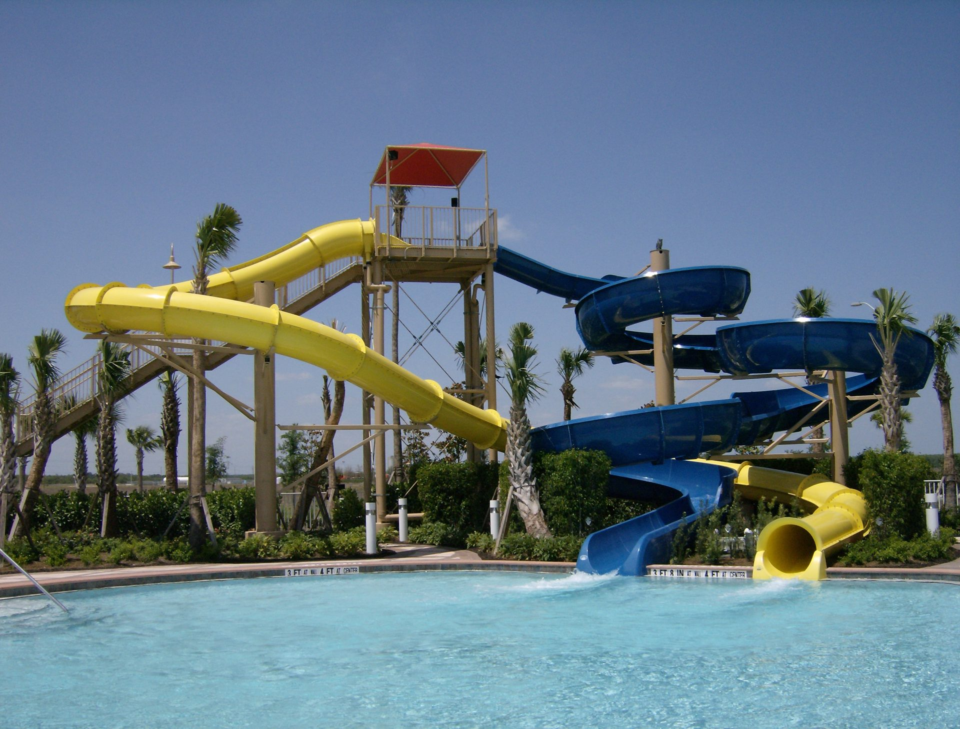 Ave Maria Water Park slides
