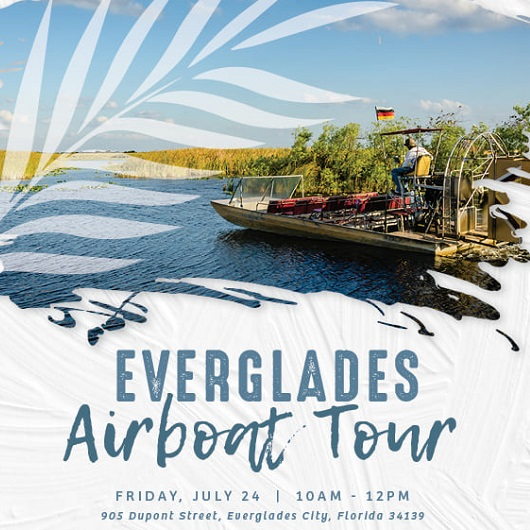 Del Webb Naples everglades airboat tour flyer