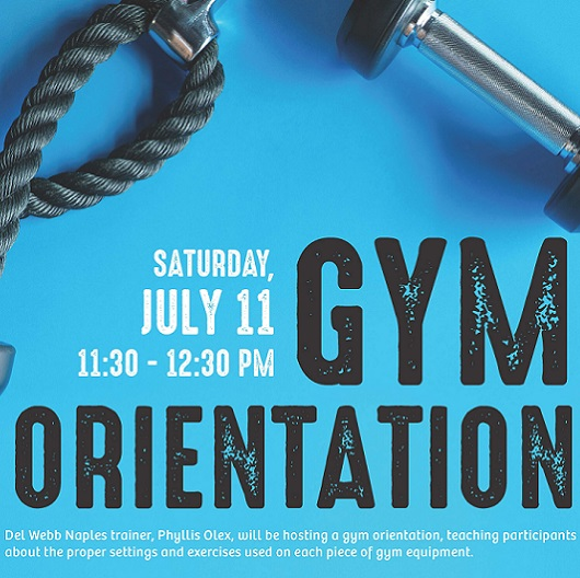Del Webb Naples Gym Orientation flyer 2020