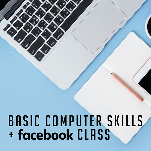Basic Computer Skills and Facebbok Class Flyer Del Webb Naples