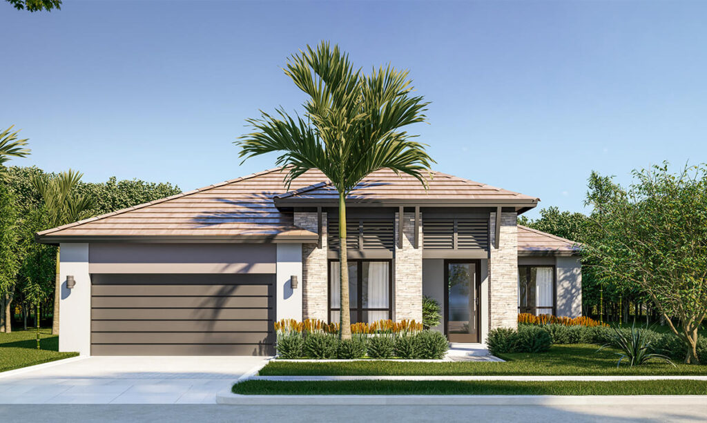 Gulf exterior home rendering by CC Homes