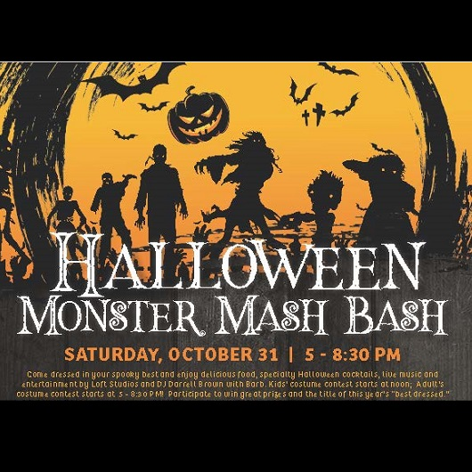 The Rusty Putter Halloween Monster Mash Bash Flyer