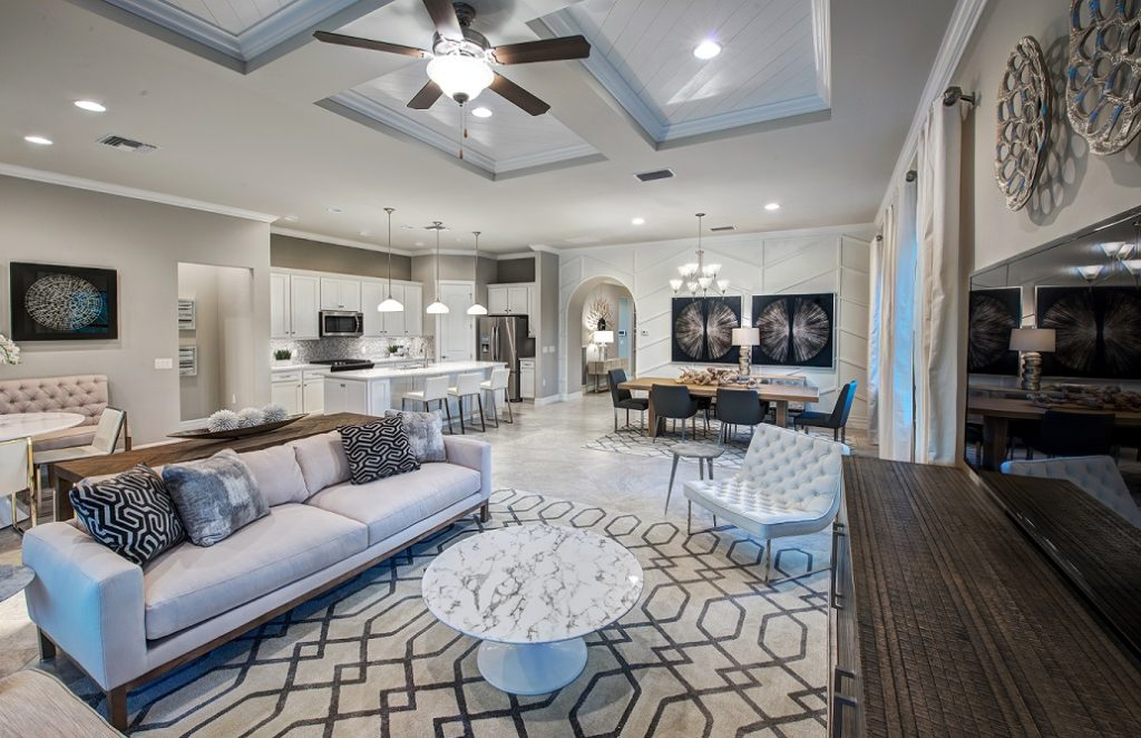 Summerwood gathering room in Avalon Park by Pulte Homes