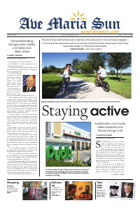 Front page of Ave Maria Sun Spring Edition