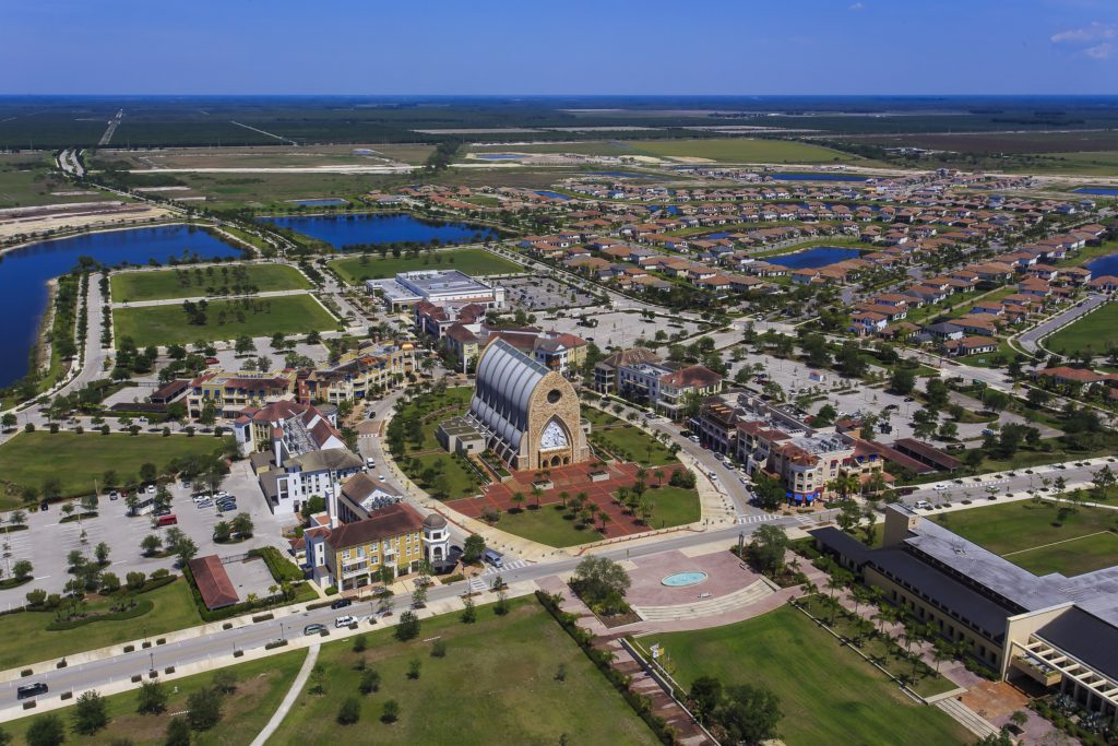 Ave Maria Town Center aerial