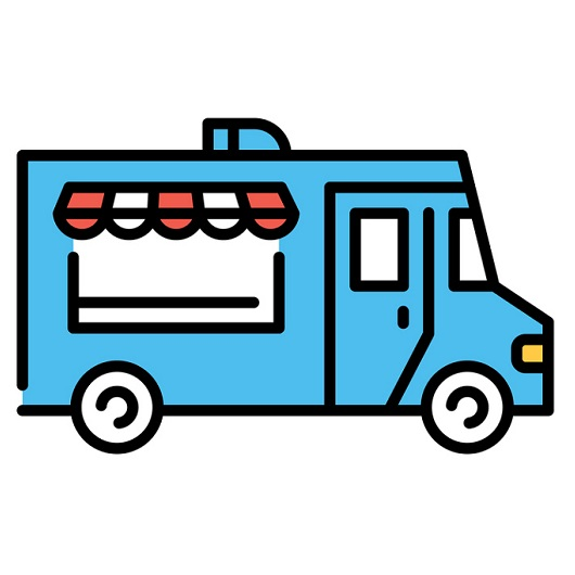Street Food Truck Icon Logo