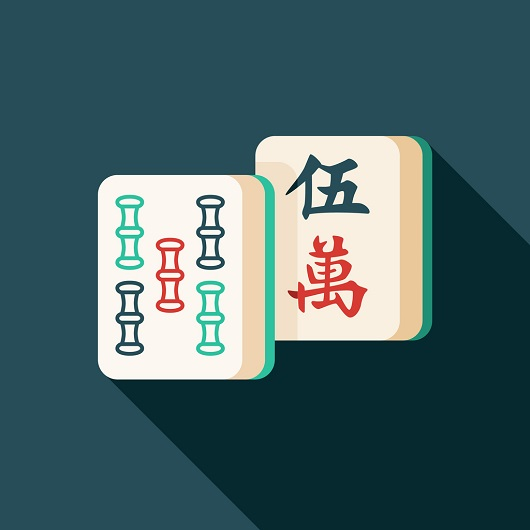 Mahjong Game Flat Design Icon