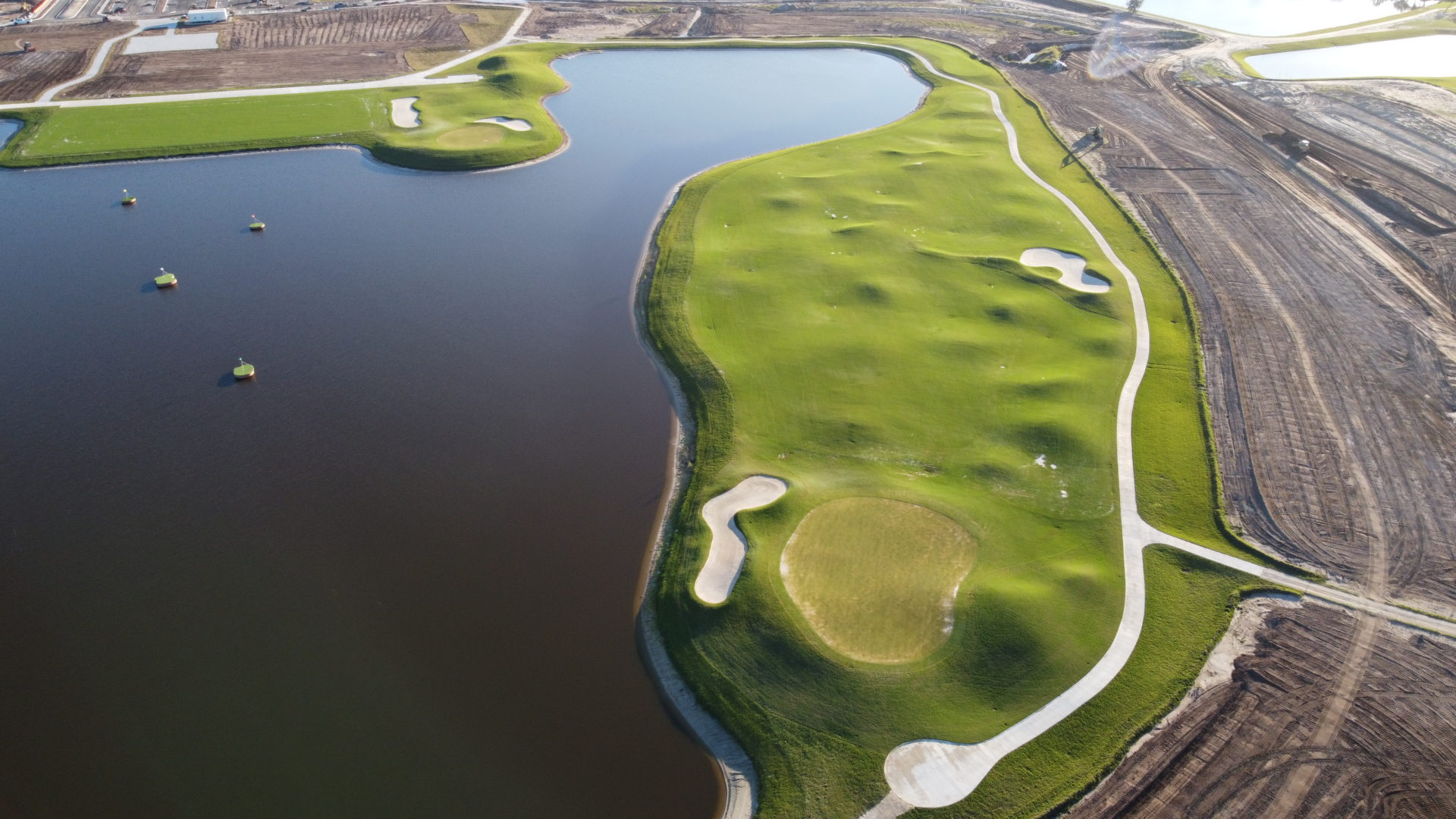 Hole 1 at The National Golf & Country Club by Lennar
