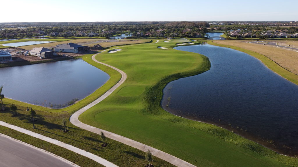 Aerial of The National Golf & Country Club by Lennar, hole 12