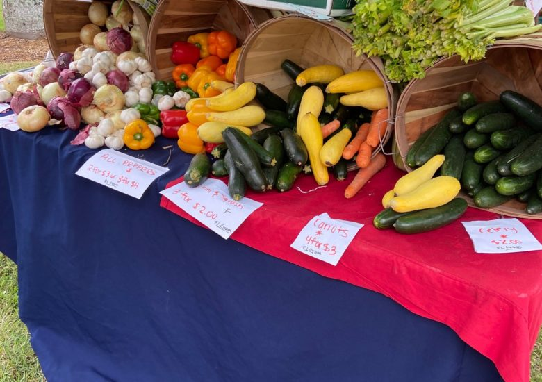Produce stand at Farmers Market