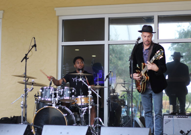 Blues band performing