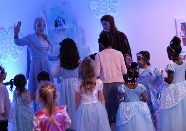 Princess celebration with young girls