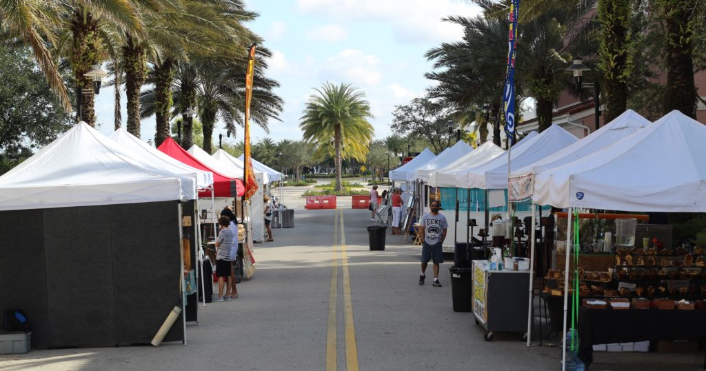 Arts and Crafts Festival tents Ave Maria, Florida