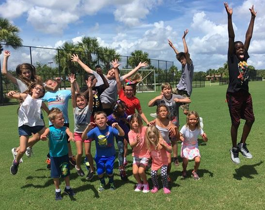 Camp Ave Maria Florida group photo of children