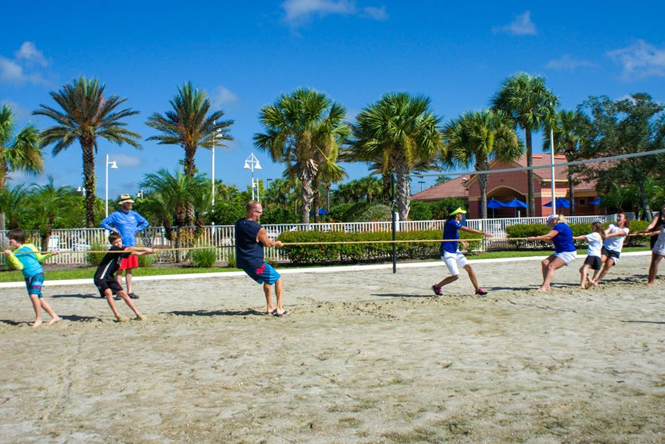 Tug of War on sand in Ave Maria Florida