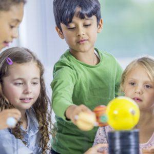 Little Children Exploring a Model Solar System