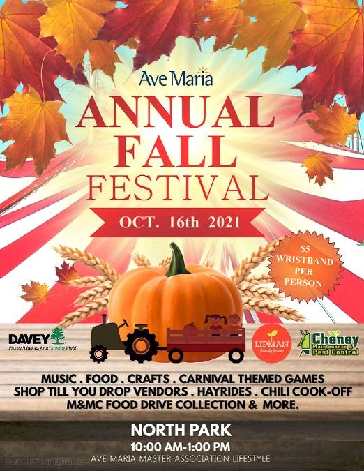 Ave Maria Fall Festival Flyer