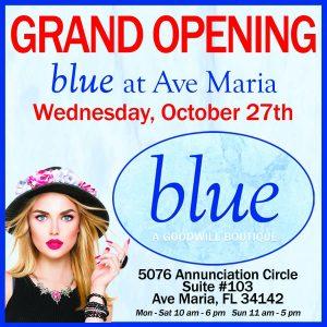 Blue Boutique Goodwill Ave Maria, Florida flyer