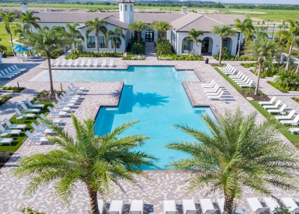 Maple Ridge Clubhouse Pool Ave Maria, Florida